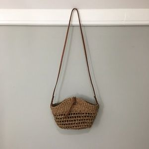 Vintage Woven Basket Summer Crossbody Bag